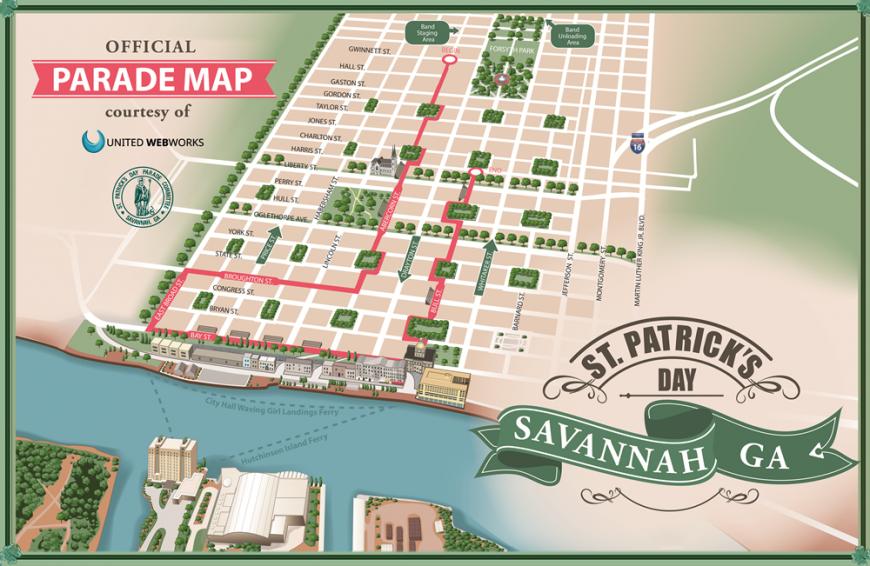 Route Savannah Saint Patricks Day Parade Committee